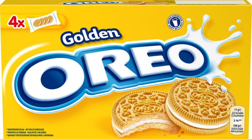 Печенье Oreo Golden с начинкой с ванильным вкусом 176г