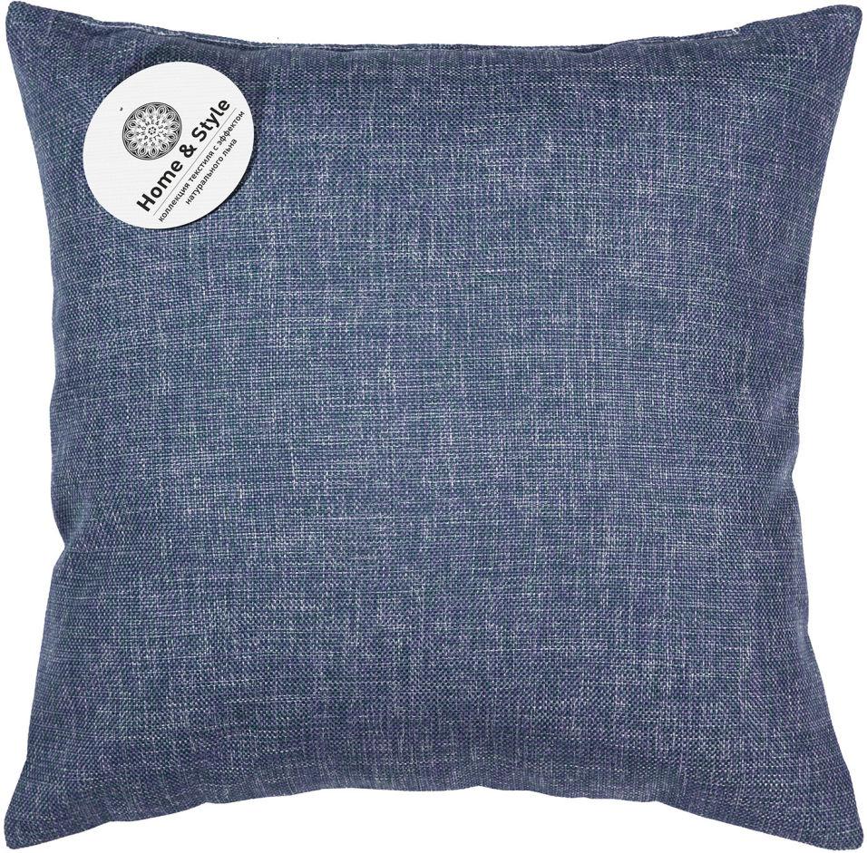 Подушка-думка Home&Style рогожка Индиго 40*40см