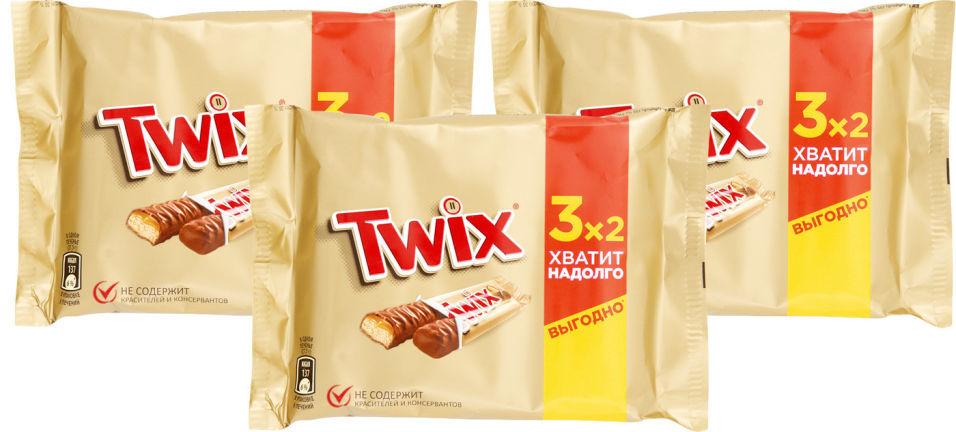 Печенье сахарное Twix с карамелью и шоколадом 165г (упаковка 3 шт.)