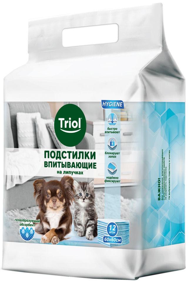 Подстилки для животных Triol впитывающие для туалета 60х60см 12шт