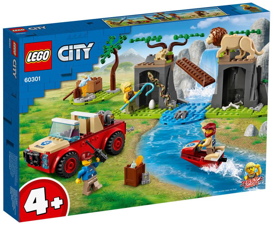 Конструктор LEGO City 60301 Спасательный внедорожник для зверей