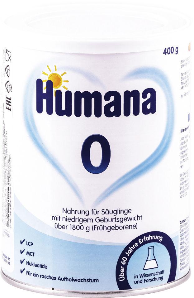 Смесь Humana 0 для недоношенных с 0 месяцев 400г (упаковка 2 шт.)