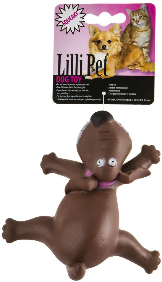 Игрушка для собак Lilli Pet Собака-лентяйка с пищалкой 13см