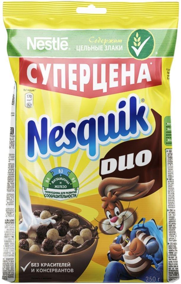Готовый завтрак Nesquik DUO Шоколадный 250г