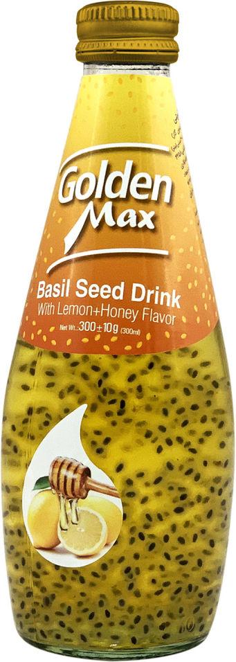 Напиток Golden Max со вкусом Лимон и Мед с семенами базилика 300г