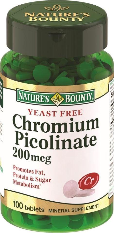 Витамины Nature's Bounty Хрома пиколинат 100 таблеток