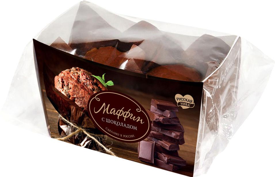 Маффин Русская нива с шоколадом 160г