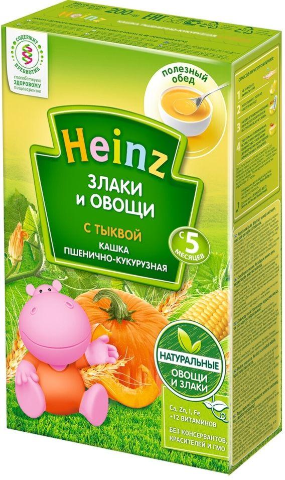 Кашка Heinz Пшенично-кукурузная с тыквой 200г (упаковка 3 шт.)