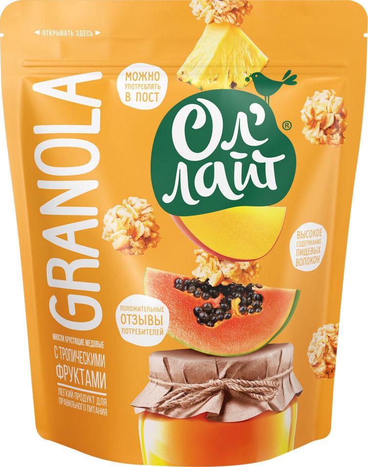 Гранола Ол Лайт медовые с тропическими фруктами 280г