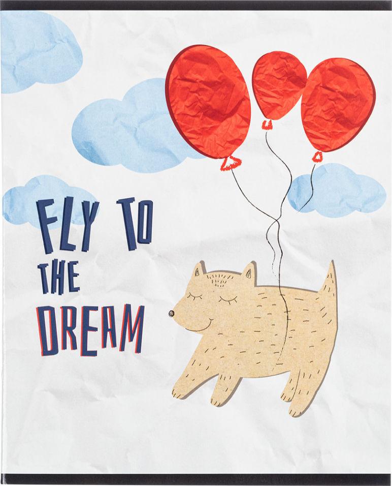 Тетрадь общая №1 School Paper Cat Fly A5 клетка 48л