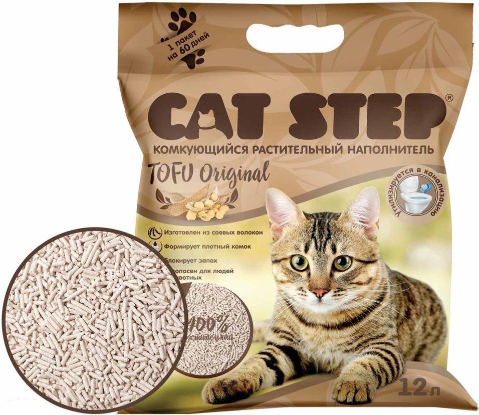Наполнитель для кошачьего туалета Cat Step Tofu Original 12л