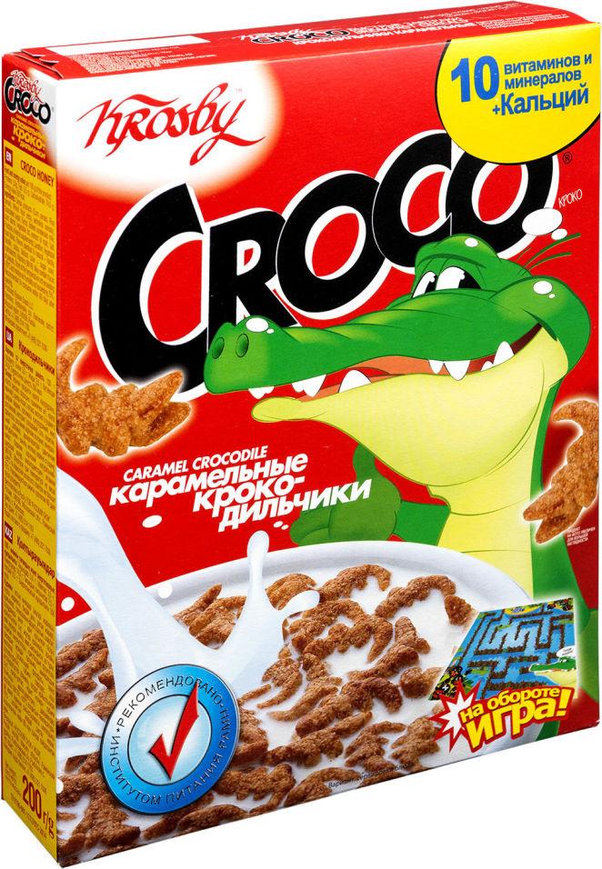 Сухой завтрак Krosby Croco Крокодильчики Карамельные 200г