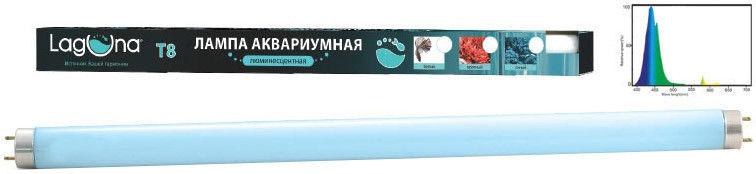 Лампа для аквариумов Laguna T8 синяя люминесцентная 15Вт 43.6см