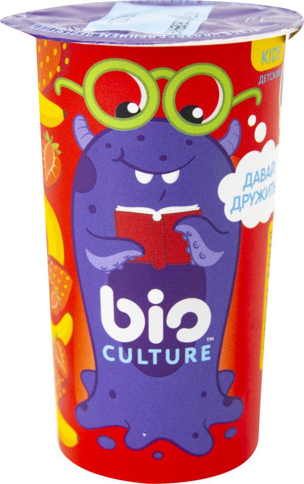 Биопродукт кисломолочный Bio Culture с клубникой и бананом для детей 1.5% 100г