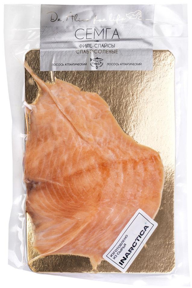 Филе атлантического лосося Dr.Alice for life слабосоленого (слайсы) 200г