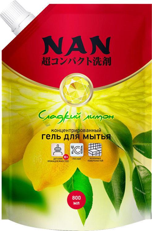 Средство для мытья посуды Nan Сладкий лимон 800мл