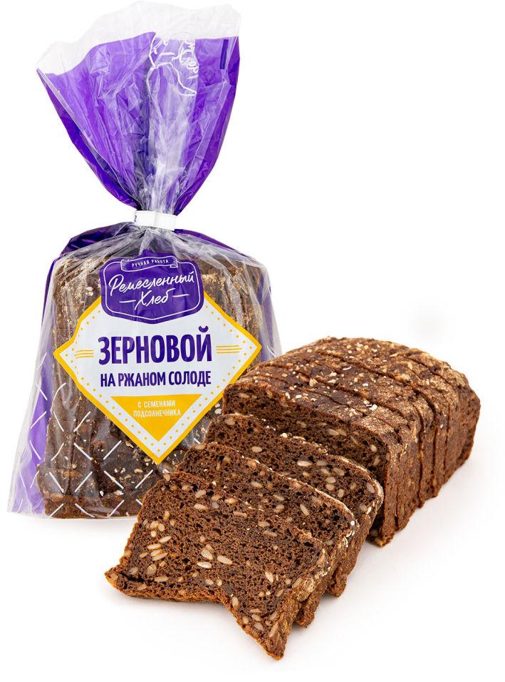 Хлеб Ремесленный хлеб зерновой с семенами подсолнечника 400г
