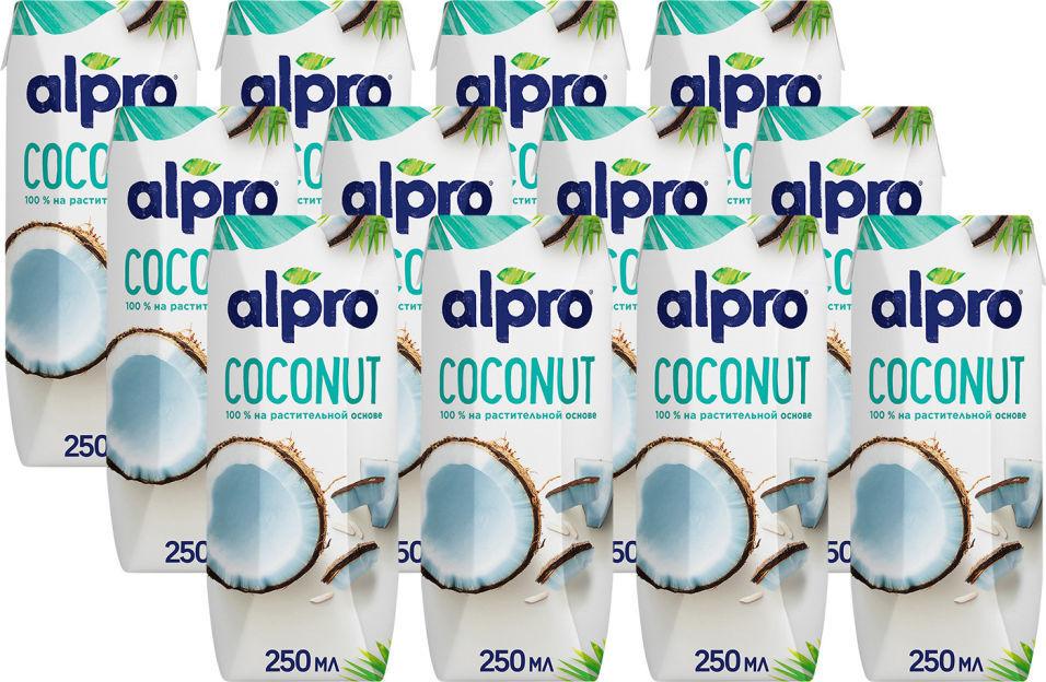 Напиток кокосовый Alpro Original 250мл (упаковка 12 шт.)