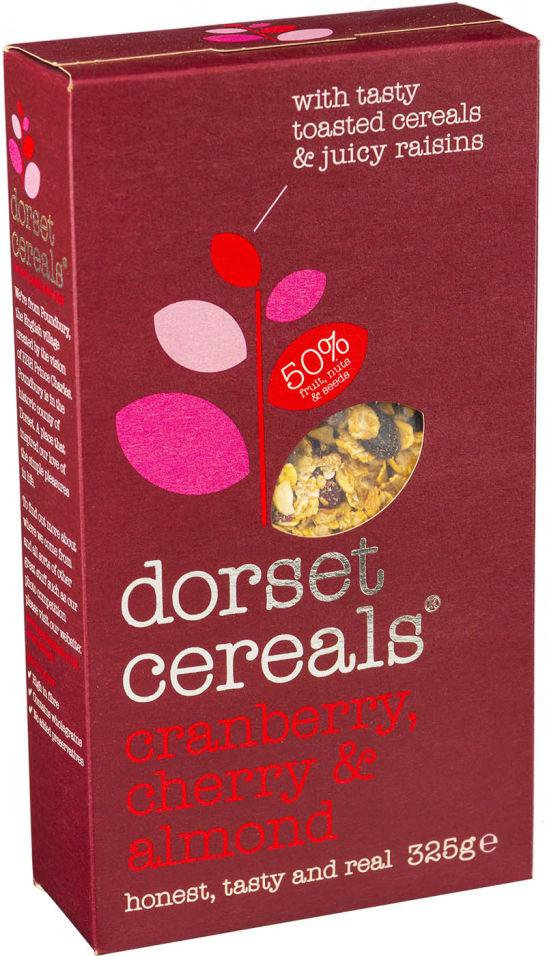 Мюсли Dorset Cereals Многозерновые Супер Клюква вишня и миндаль 325г