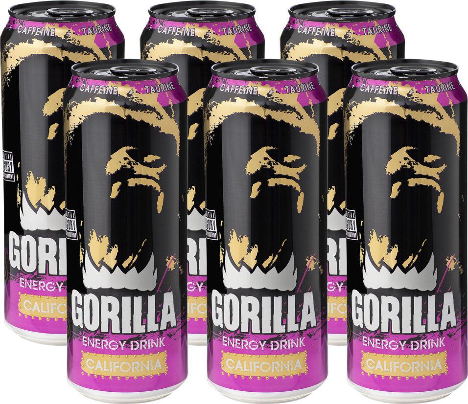 Энергетический напиток Gorilla California 450мл (упаковка 6 шт.)