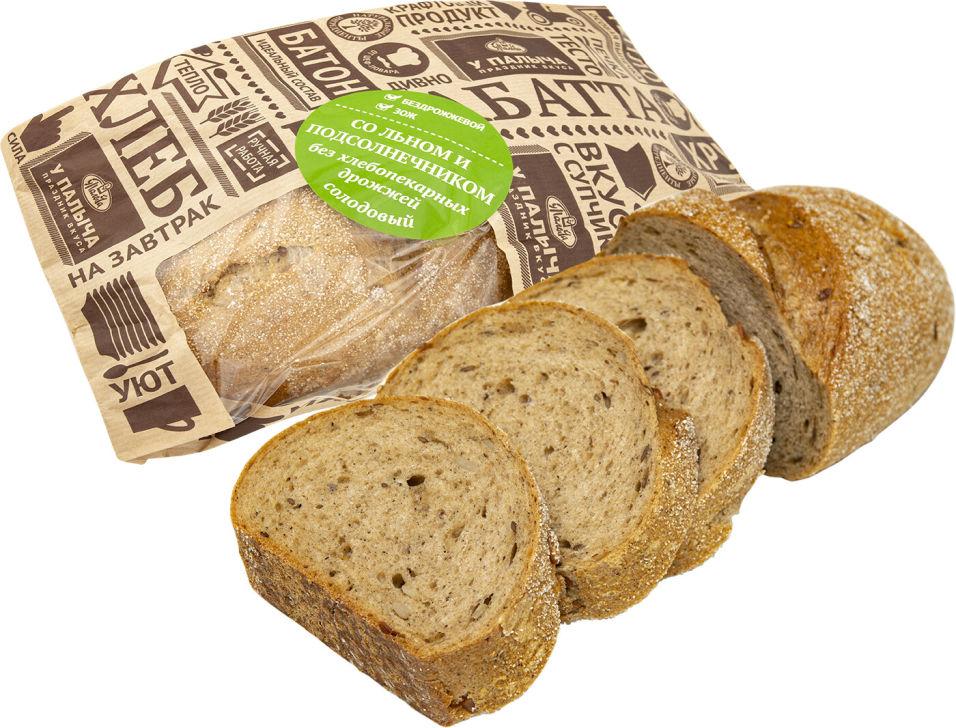 Хлеб У Палыча солодовый с льном и подсолнечником без дрожжей 450г