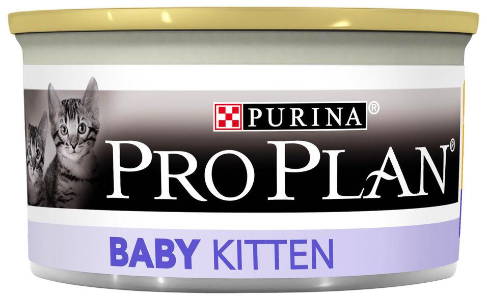 Корм для котят Pro Plan Baby Kitten с курицей 85г