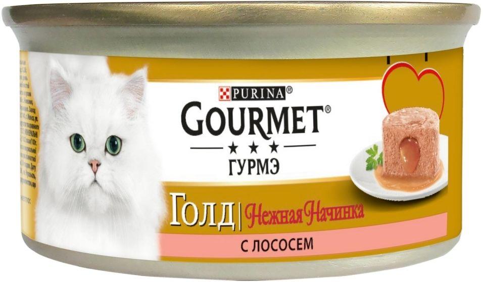 Корм для кошек Gourmet Gold Нежная начинка с лососем 85г