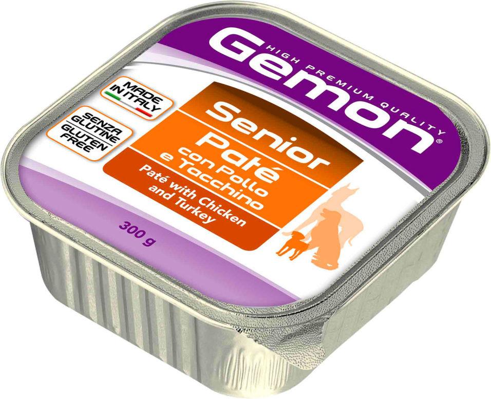 Корм для собак Gemon Dog консервы для пожилых собак паштет курица с индейкой 300г