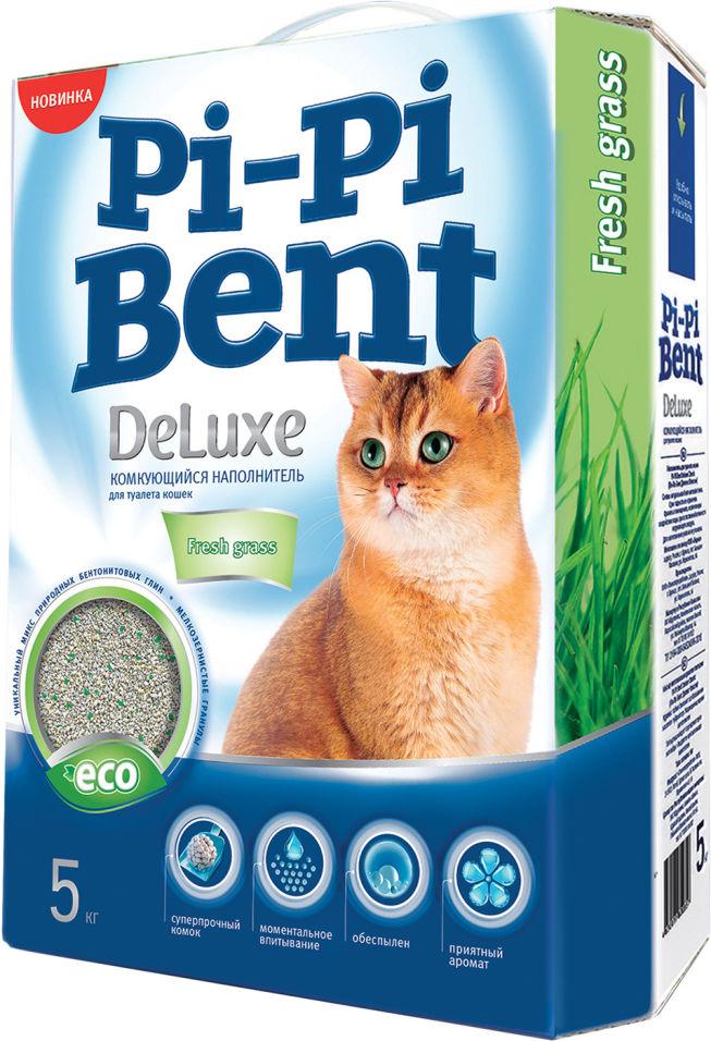 Наполнитель для кошачьего туалета Pi-Pi Bent DeLuxe комкующийся Fresh grass 5кг