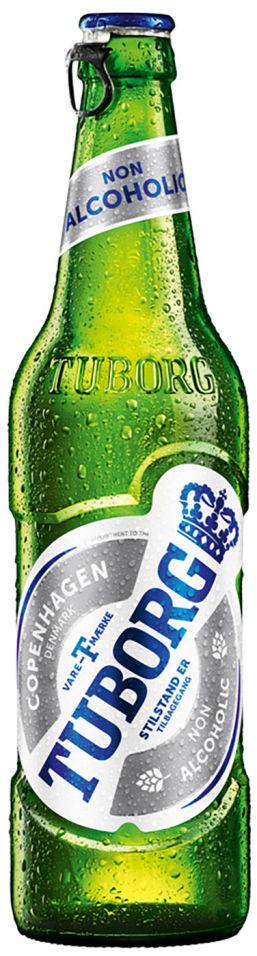 Пиво Tuborg безалкогольное 0.5% 0.48л