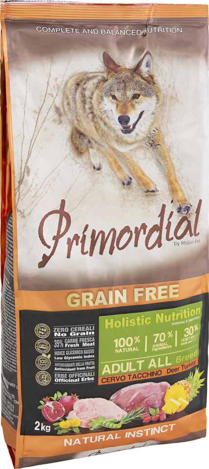 Сухой корм для собак Primordial Оленина и Индейка 2кг