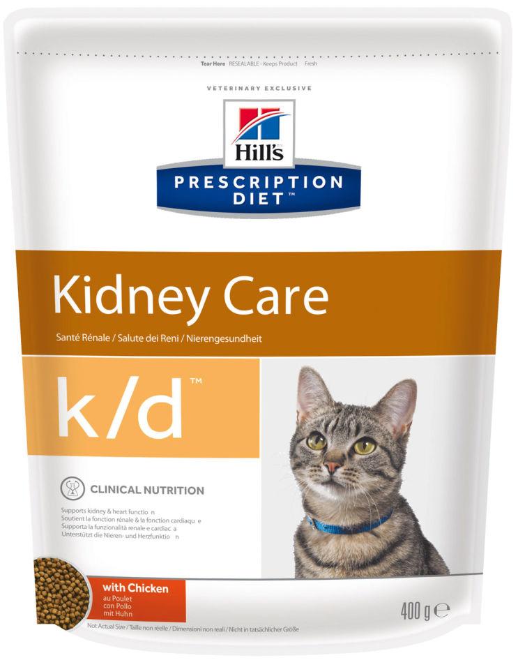 Сухой корм для кошек Hills Prescription Diet при проблемах с почками с курицей 400г