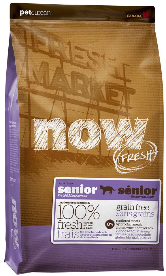 Сухой корм для пожилых кошек Now Fresh Senior Контроль веса беззерновой с индейкой уткой и овощами 1.81кг