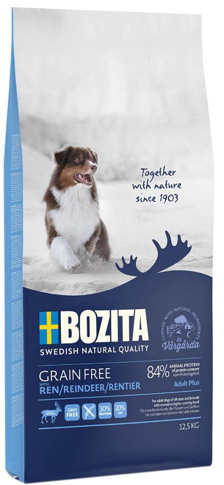Сухой корм для собак Bozita Grain Free Reindeer с мясом оленя 12.5кг