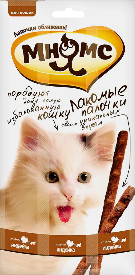 Лакомство для кошек Мнямс Лакомые палочки с индейкой и ягненком 13.5см 3шт*5г