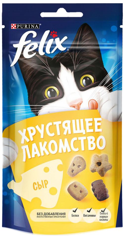 Хрустящее лакомство для кошек Felix с сыром 60г