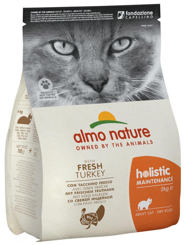 Сухой корм для кошек Almo Nature с индейкой 2кг