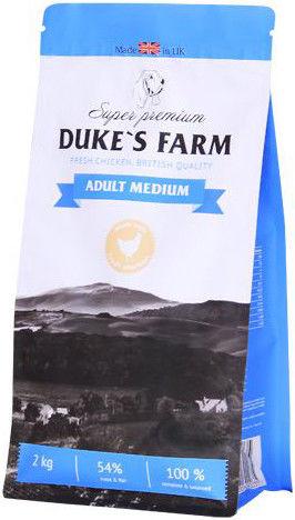 Сухой корм для собак Dukes Farm Курица для средних пород 2кг