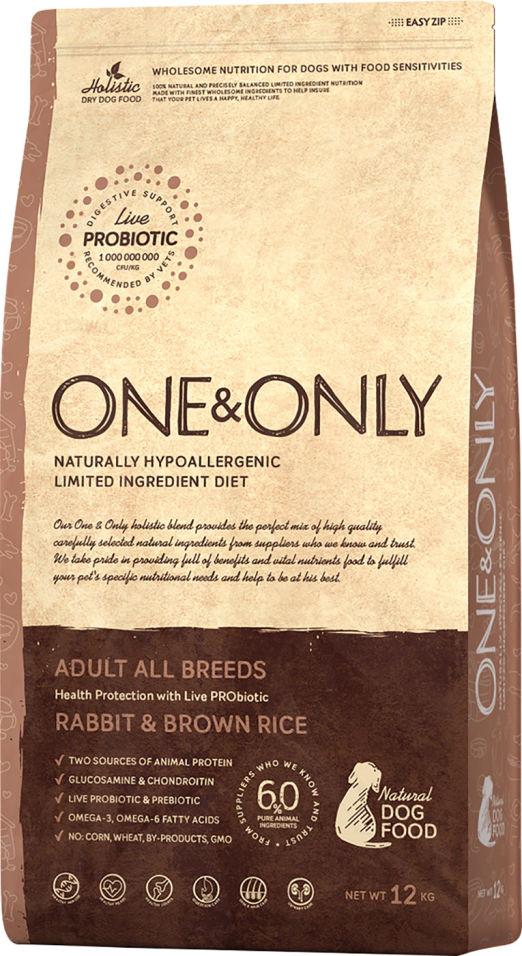 Отзывы о Сухом корме для собак One&Only Adult аll кролик с рисом 12кг