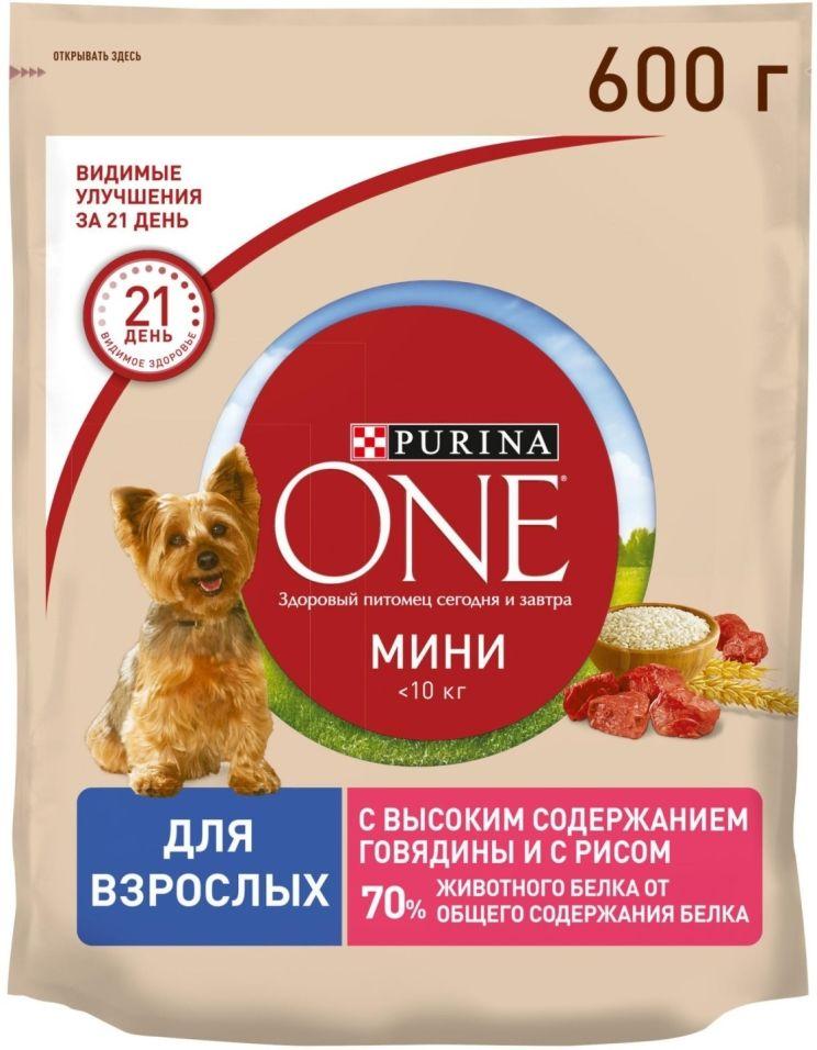 Отзывы о Сухом корме для собак Purina One с говядиной и рисом 600г