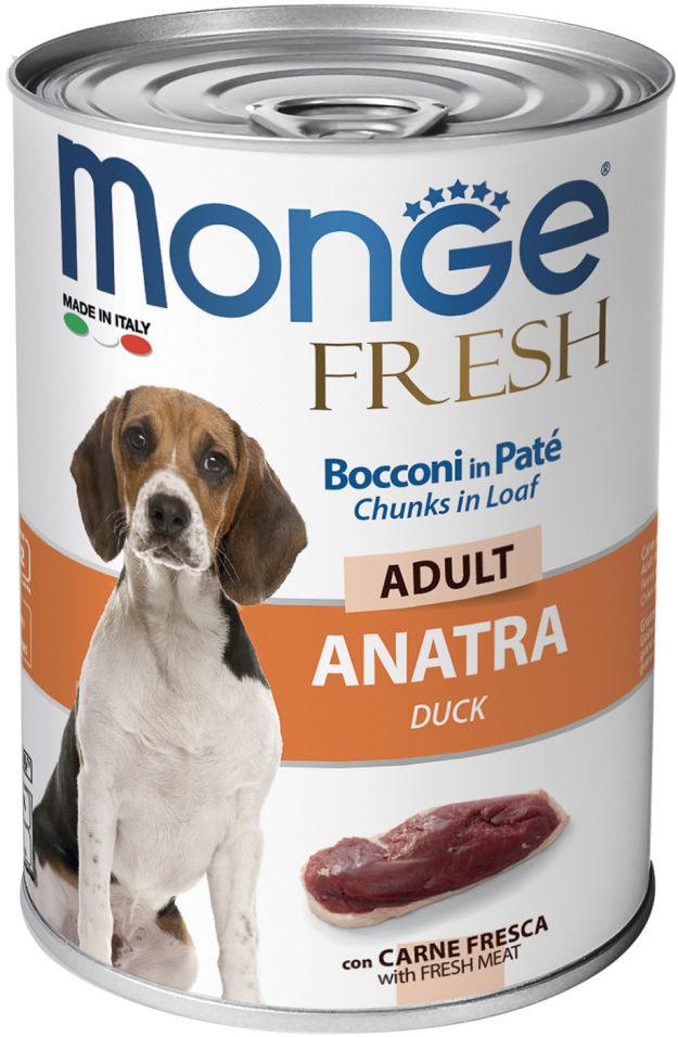 Корм для собак Monge Dog Fresh Chunks in Loaf рулет из утки 400г