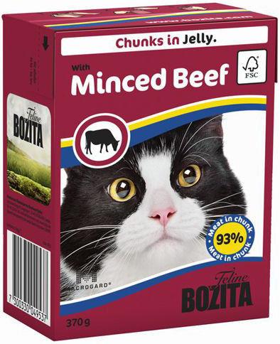 Корм для кошек Bozita Кусочки в желе с рубленой говядиной 370г
