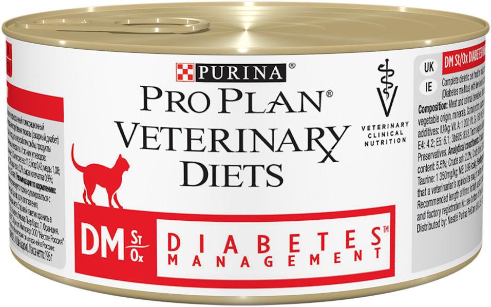 Отзывы о Влажный корм для кошек Pro Plan Veterinary Diets DM Diabets Management при диабете 195г