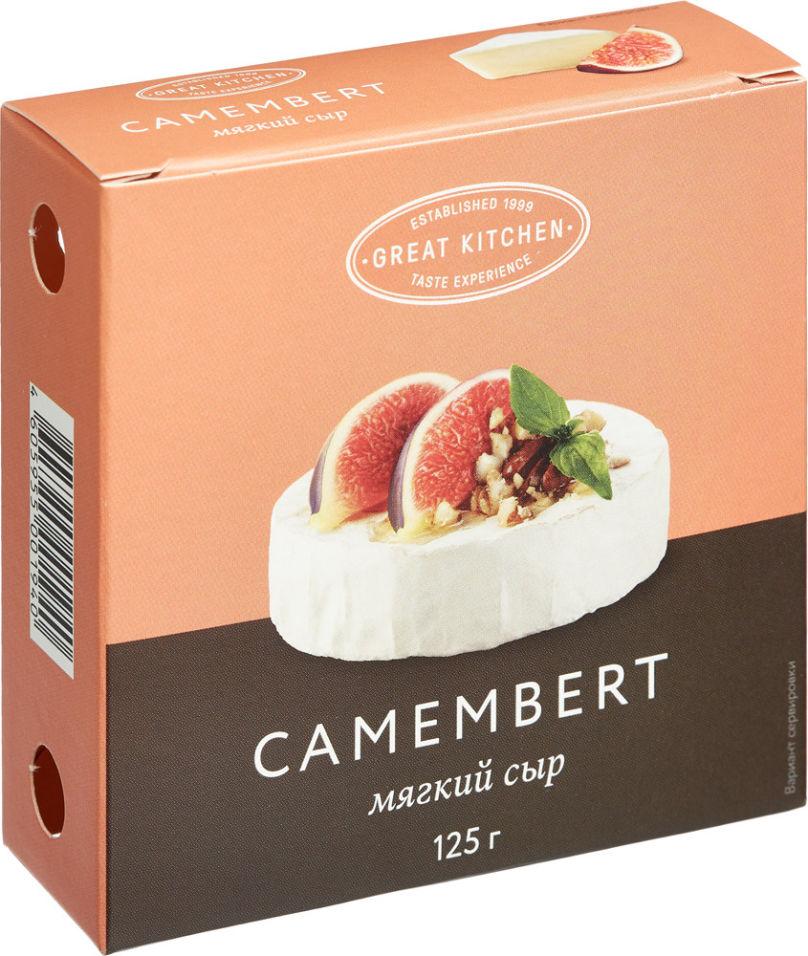 Отзывы о Сыре Camambert Great Kitchen мягком с белой плесенью 50% 125г
