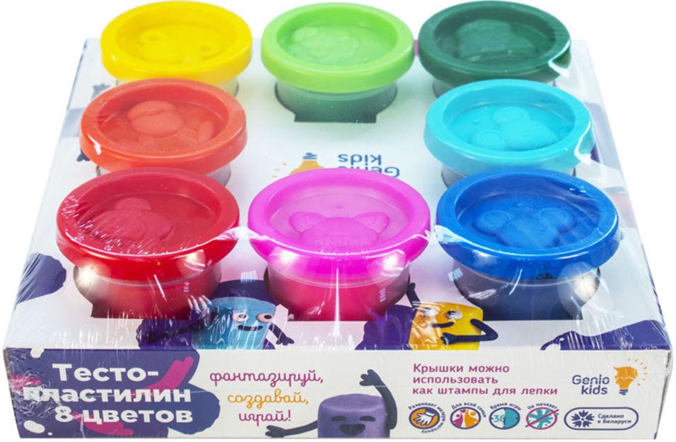 Набор для лепки Genio Kids Тесто-пластилин TA1045 8 цветов