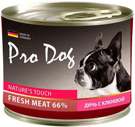 Корм для собак Pro Dog Дичь клюква 200г