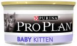 Влажный корм для котят Pro Plan Baby Kitten мусс с курицей 85г
