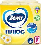 Туалетная бумага Zewa Плюс Аромат ромашки 8 рулонов 2 слоя