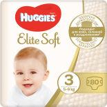 Подгузники Huggies Elite Soft №3 5-9кг 80шт