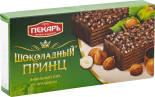 Вафельный торт Пекарь Шоколадный принц с фундуком 260г